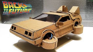 How to make DeLorean time machine  from cardboard\from Ready Player One\Gta 5 Fly Car