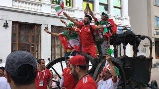 Иранцы расписались на футболках болельщиц: на Баумана ирано-татарские танцы в преддверие матча