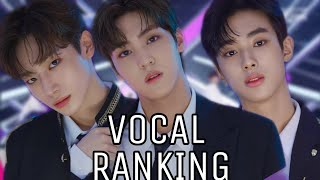 BY9 VOCAL RANKING