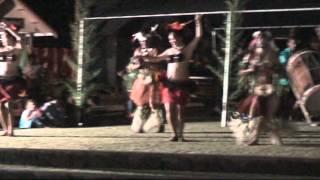 Rarotonga, Cook Island Drum Dancing At Saturday Market