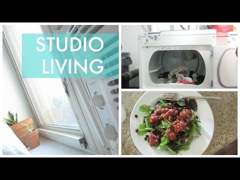 STUDIO LIVING ON A BUDGET // VLOG