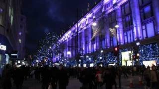 preview picture of video 'Oxford Street Christmas lights (3rd December 2011)'