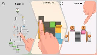Ball Pipes VS Folding Blocks VS Press To Push - Compare Gameplay - Game+Fun