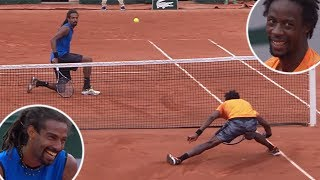 The Tennis Match That Turned Into a Circus Show | Gael Monfils VS. Dustin Brown