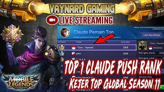 🔴[LIVE] TOP 1 CLAUDE KAMPUNG IS BACK MAMEN !! YOK RAMAIKAN - MOBILE LEGENDS
