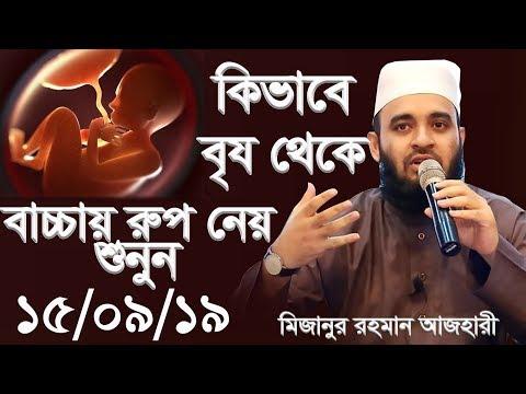 কিভাবে বীর্য থেকে বাচ্চায় রুপ নেয় শুনুন । মিজানুর রহমান আজহারী।bangla waz 2019 mizanur rahman azhari