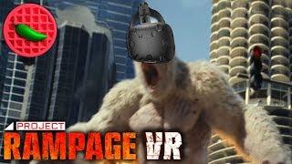 VIRTUAL GORILLA POWER TRIP! -- Project Rampage VR (Part #1) HTC Vive Windows PC Gameplay