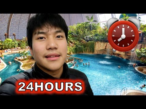 OVERNIGHT In WATER THEME PARK | 24 Hour Fort Challenge