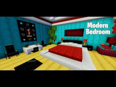 🛏️ Modern bedroom 1 16 1 🛏️ Minecraft Map