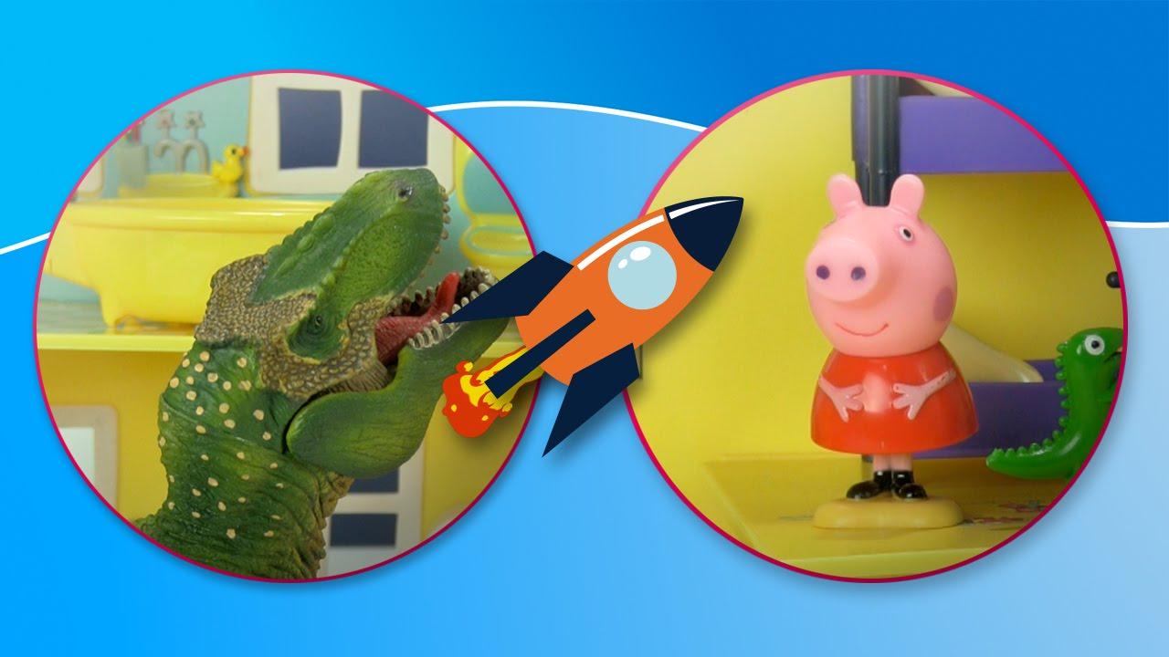 T-Rex de Jurassic World visita la casa de Peppa Pig