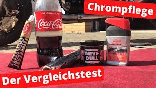 Autosol vs Nevr Dull vs Nigrin vs Cola - Chrompflege - Der Vergleichstest