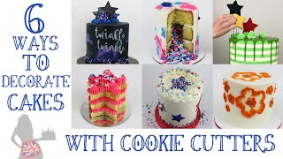 6 Ways To Decorate Cakes With Cookie Cutters