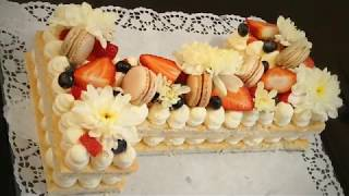 طريقة تحضير كيك الارقام روعة وسهلة 😋😋/ How to Make A Number Cake