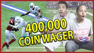 HIGH STAKES 400,000 COIN WAGER!! - MUT Wars Ep.49 | Madden 17 Ultimate Team