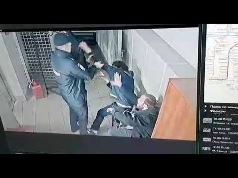 Драка в  отделении полиции Московского метрополитена