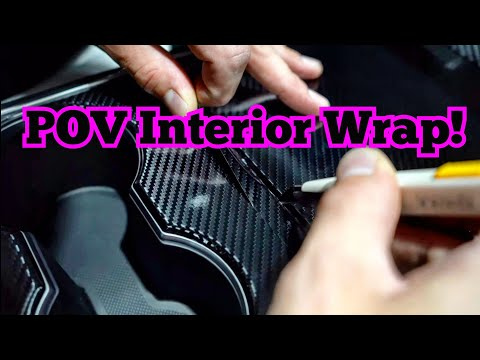 POV Gloss Carbon Fiber Interior Wrap - How to wrap your interior Tesla Model 3