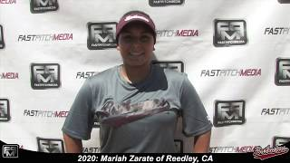 2020 Mariah Zarate Pitcher and Shortstop Softball Skills Video