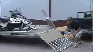 Aluma 8624 Snowmobile Trailer Front Ramp