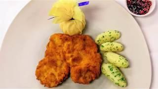 A real Wiener Schnitzel by chef Herbert Wieser from TOP Hotel Hochgurgl, Austria