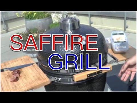 Saffire Kamado Grill Test First Look Keramikgrill --- Klaus grillt