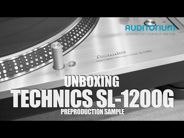 Unboxing TECHNICS SL 1200G