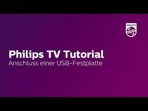 USB-Festplatte anschließen - Philips TV Tutorial