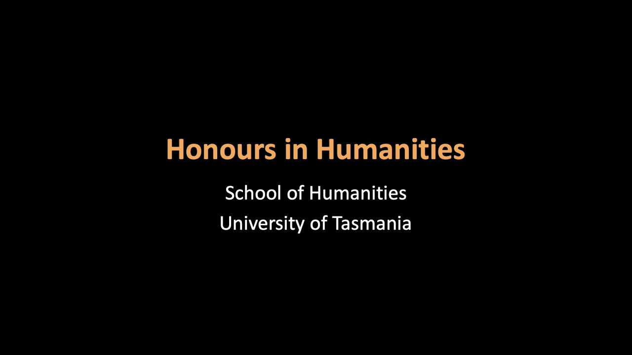 Honours in Humanities, YouTube video