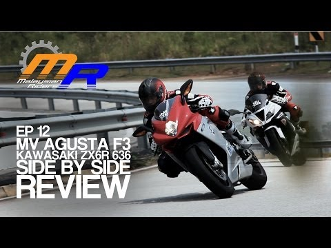 MV Agusta F3 675 and Kawasaki ZX6R 636 Side By Side Review -- Ep.12