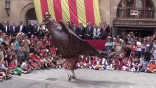 preview picture of video 'Ball de l'Àliga - Festa Major Solsona 2014'
