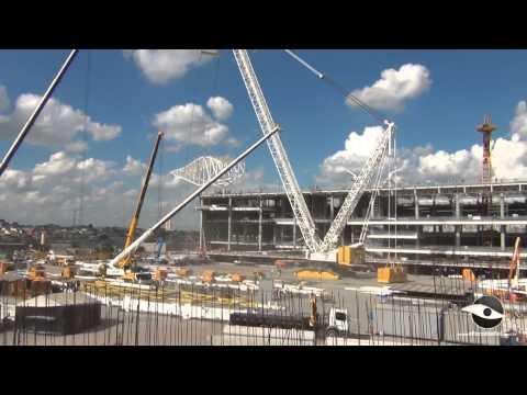 Obras da Arena Corinthians em 12/03/2013