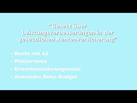VdK TV: Das neue Rentenpaket I -- Rente mit 63 und Mütterrente