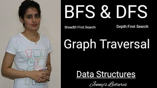 BFS And DFS Graph Traversal | BFS (Breadth First Search) DFS (Depth First Search)
