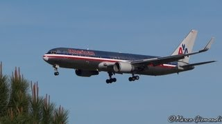 preview picture of video 'American Airlines 767-323/ERW [N353AA] landing Rome Fiumicino Airport'