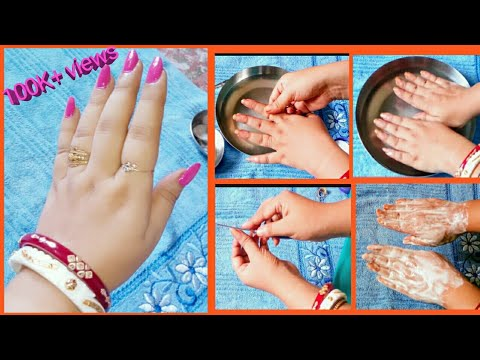 HOW TO DO SALON TYPE MANICURE AT HOME IN HINDI #umavlogs #manicure #pedicure #nailart #nails