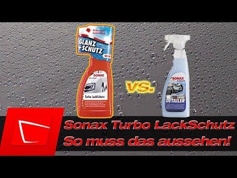 Sonax Turbo Lackschutz vs. Sonax Brilliant Shine Detailer - Lack effektiv und günstig versiegeln