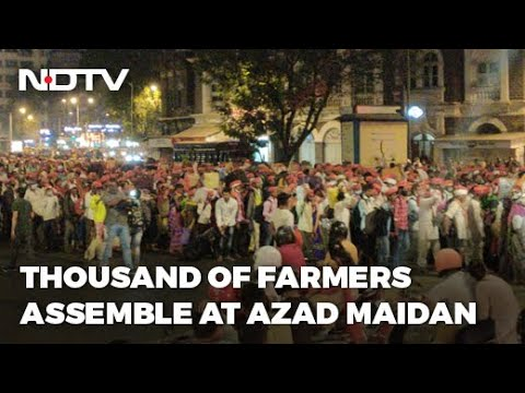 शेतकर्यांचा निषेध | महाराष्ट्रातील 21 जिल्ह्यातील शेतकरी शेती कायद्याच्या निषेधार्थ मुंबईत पोहोचले