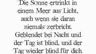 """Zeraphine """"Nichts Aus Liebe"""" mit Songtext"""