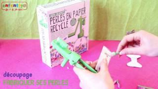 Perles en papier recyclé