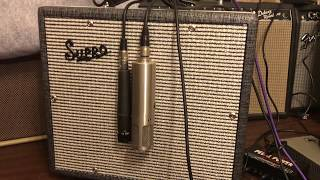 ZZ Top Down Brownie. Billy Gibbons tone. Supro Comet, Shure SM 57, Sterling ST 69 tube mic.
