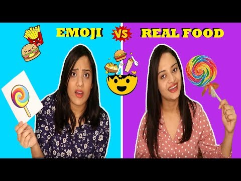REAL FOOD vs EMOJI Switch up Challenge | Life Shots
