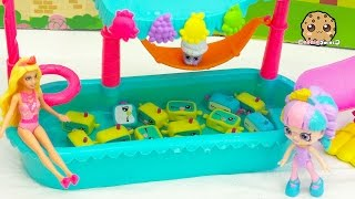 School Of Snorky Pool - Shopkins Happy Places Doll Rainbow Kate + Barbie Go On Vacation