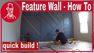 How To Build A Feature Wall - Random Design
