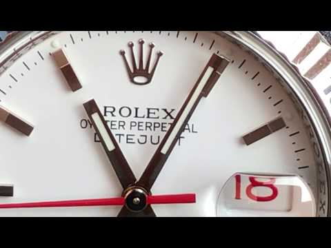 Rolex turn o graph red and white