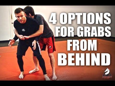 Jiu-Jitsu Self-Defense | 4 Options For Grabs From Behind