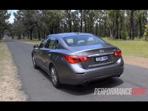 2014 Infiniti Q50 GT 2.0t 0-100km/h & engine sound