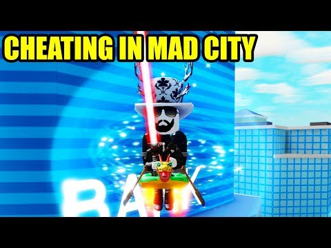 CHEATING with the LASERBLADE | Roblox Mad City