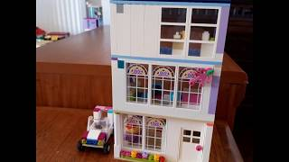 Homemade Lego House Tour. Kids Toys.