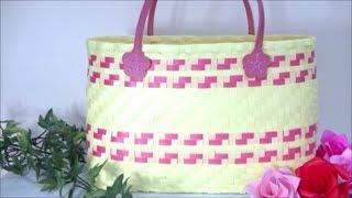 ハンドメイド PPバンドで作る手提げバッグ Handmade Bag