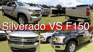 Chevy Vs Ford Front Rear Of The  Chevy Silverado Lt Ford F