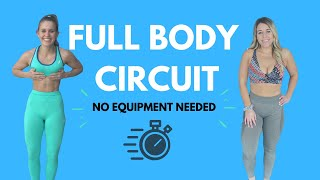 REAL TIME FULL BODY CIRCUIT | No Equipment